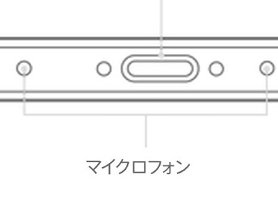 iPhone6sのマイクの数