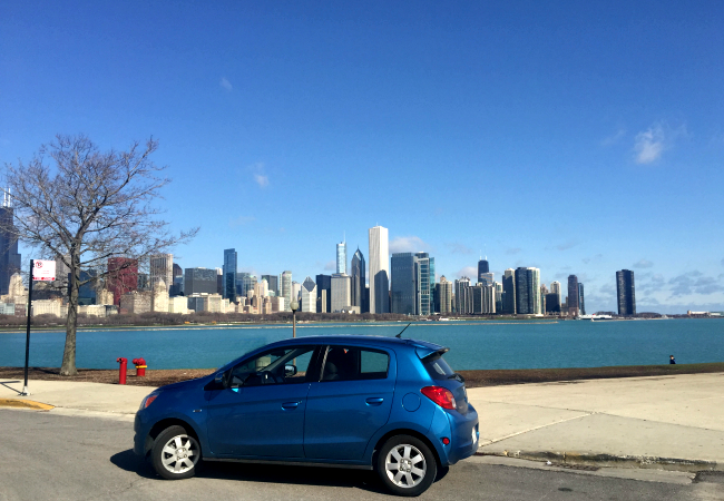 Test Drive of Mitsubishi Mirage in Chicago by Kim Vij