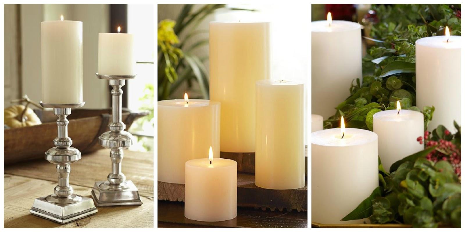 Il giardino di fasti floreali decorazioni natalizie - Decorazioni con candele ...