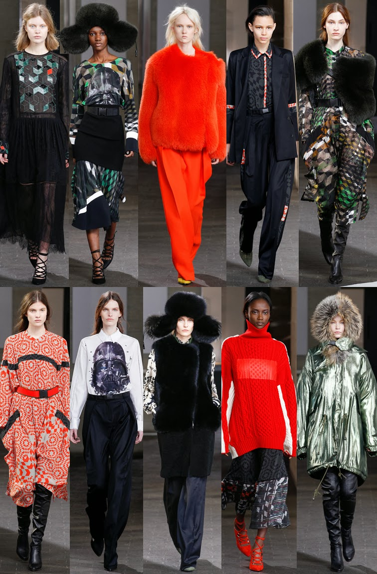 Preen by Thornton Bregazzi fall winter 2014 runway collection, FW14, AW14, LFW, London fashion week, Star Wars, geek chic