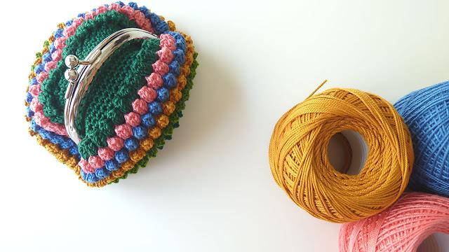 romantic coin purse, free crochet patterns