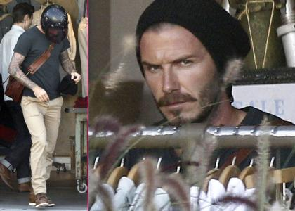 David Beckham's Sexy Melrose Avenue Shopping Spree » Gossip
