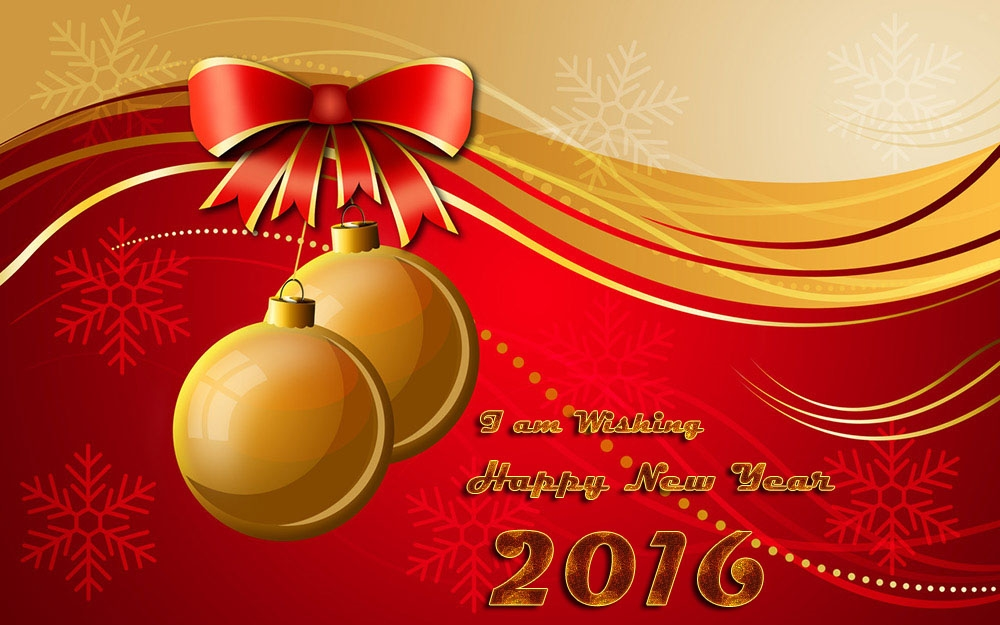 Happy New Year Best Wishes 2016 eCard