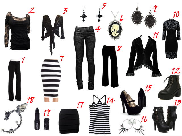 How to dress goth