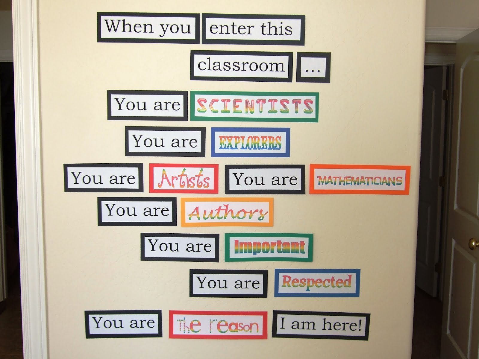Classroom Decoration Inspiration ~ Inspirational quotes for classroom doors quotesgram