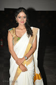 Actress Nivitha Glamorous photos in Saree-thumbnail-9