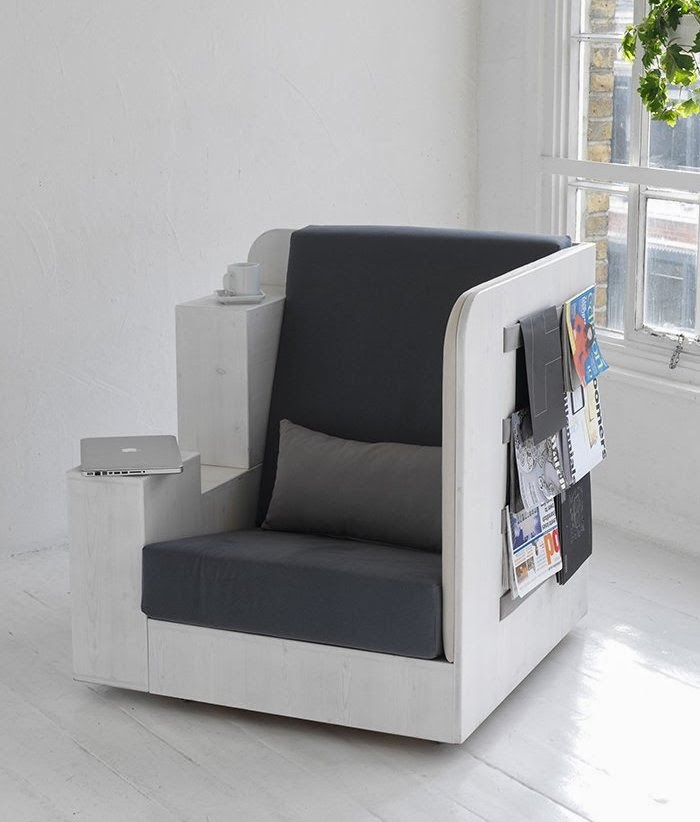 Creative chair design ideas chair and workplace and library in one
