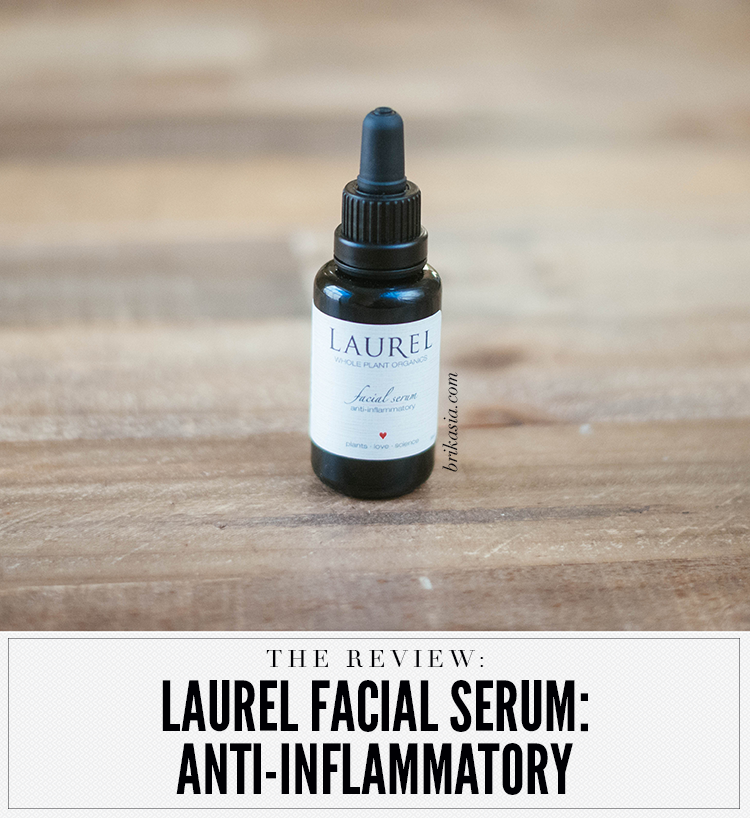 laurel anti inflammatory facial serum review, best organic facial oils, best face oils, best face serums, best natural oils, green beauty skincare review, beauteabar, laurel serums