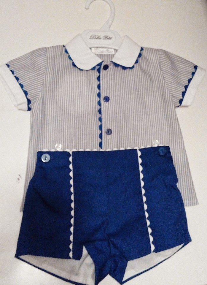 Camisa y pantalon bebe moda promavera 2015