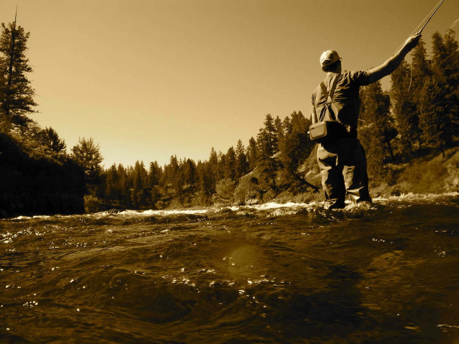 Chucking line and chasing tail things you hear while for Spokane river fishing