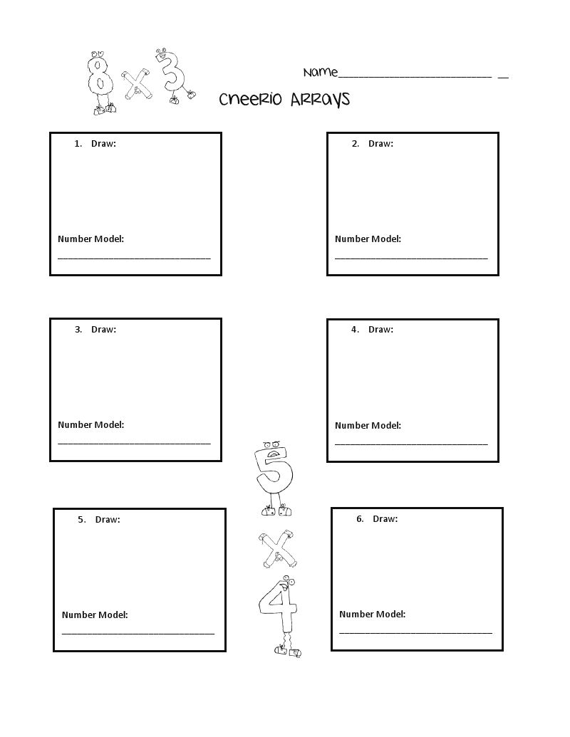 Worksheets Grade 2 Delibertad – Array Multiplication Worksheets