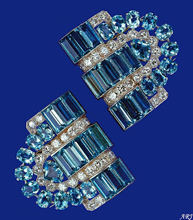 Boucheron Aquamarine Clips