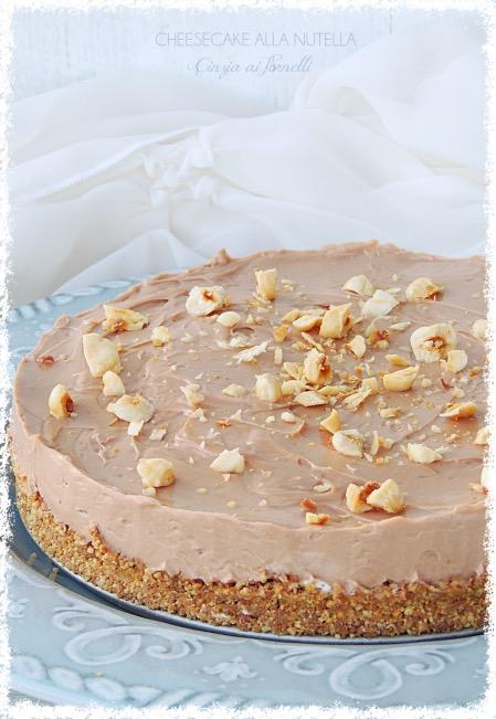 cheesecake con nutella col bimby