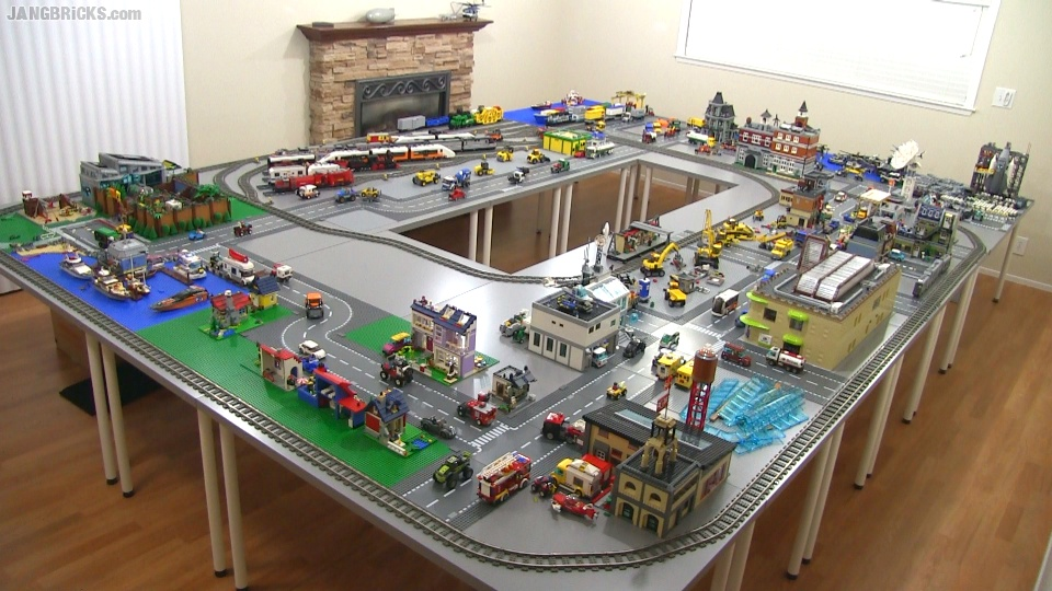 Introducing New Jang City Lego Layout on lego modern house ideas