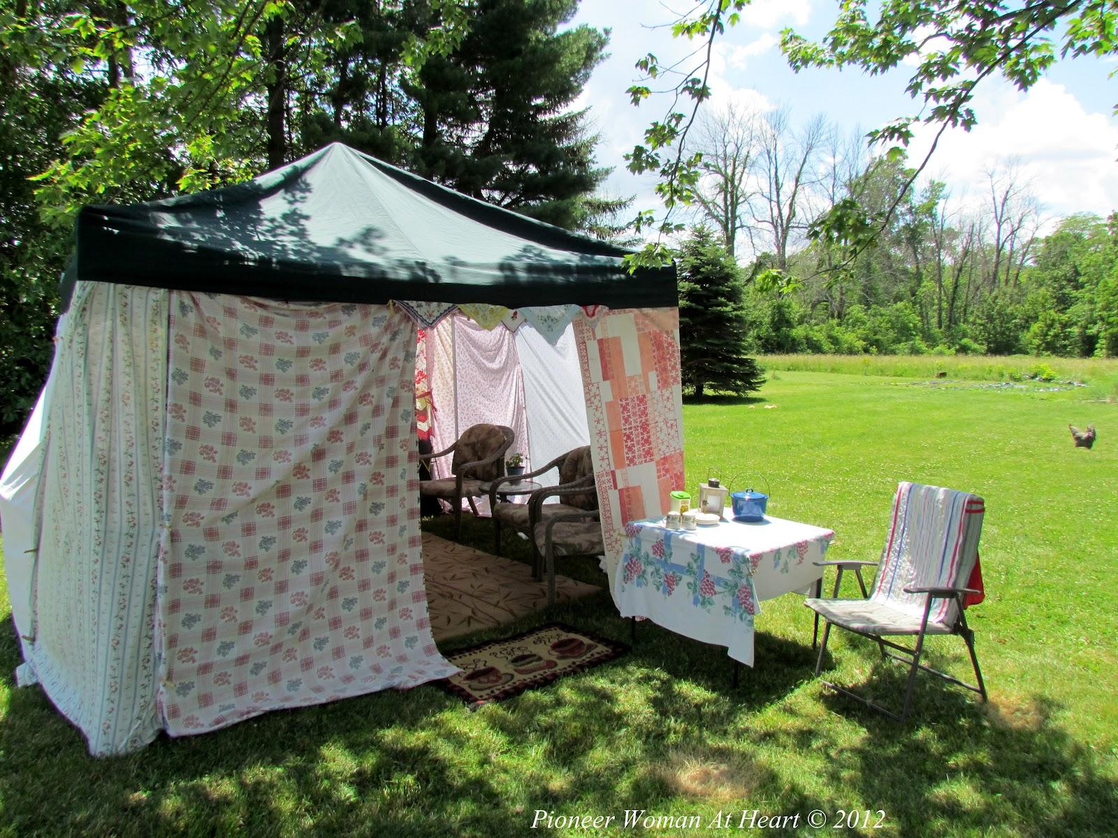 pioneer woman at heart backyard camping
