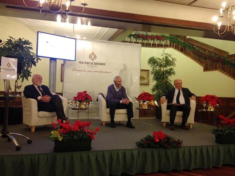 El rector de UNEATLANTICO acude a la conferencia del entrenador del Racing en el Club de Tenis de Santander