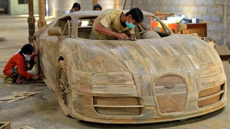 bugatti veyron super sport replica kunstwerk aus holz myauto24 das autoblog im internet myauto24. Black Bedroom Furniture Sets. Home Design Ideas