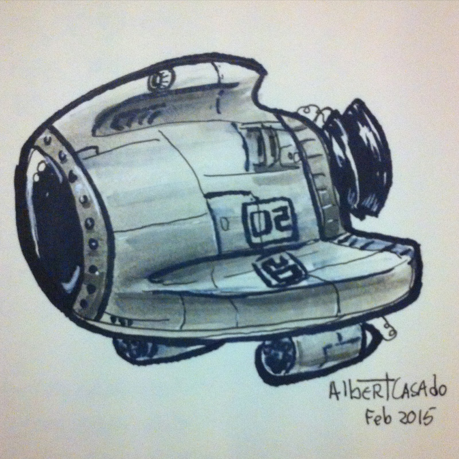 02 - Spaceship - (100mechDrawings) - Albert Casado