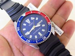 SEIKO DIVER 6309 7290 BLUE DIAL PEPSI BEZEL - AUTOMATIC