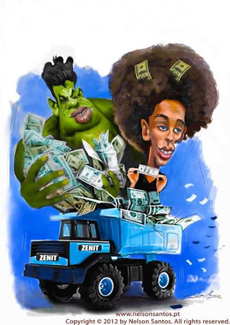 Hulk y Witsel - Zenit