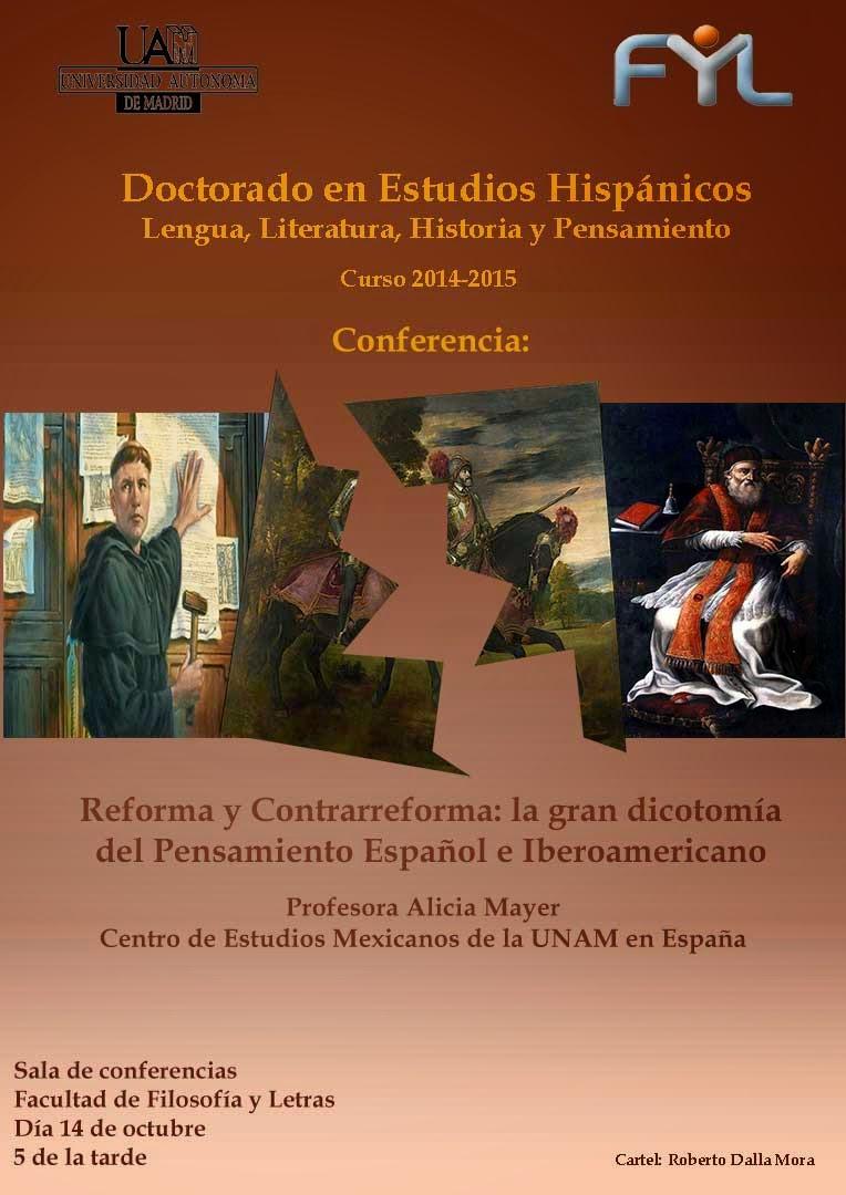 Alicia Mayer, Reforma y Contrarreforma: la gran dicotomía en pensamiento español e iberoamericano