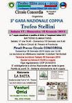 """3° Gara NAZ. COPPIA Circolo CONCORDIA """"Trofeo STELLINI"""""""