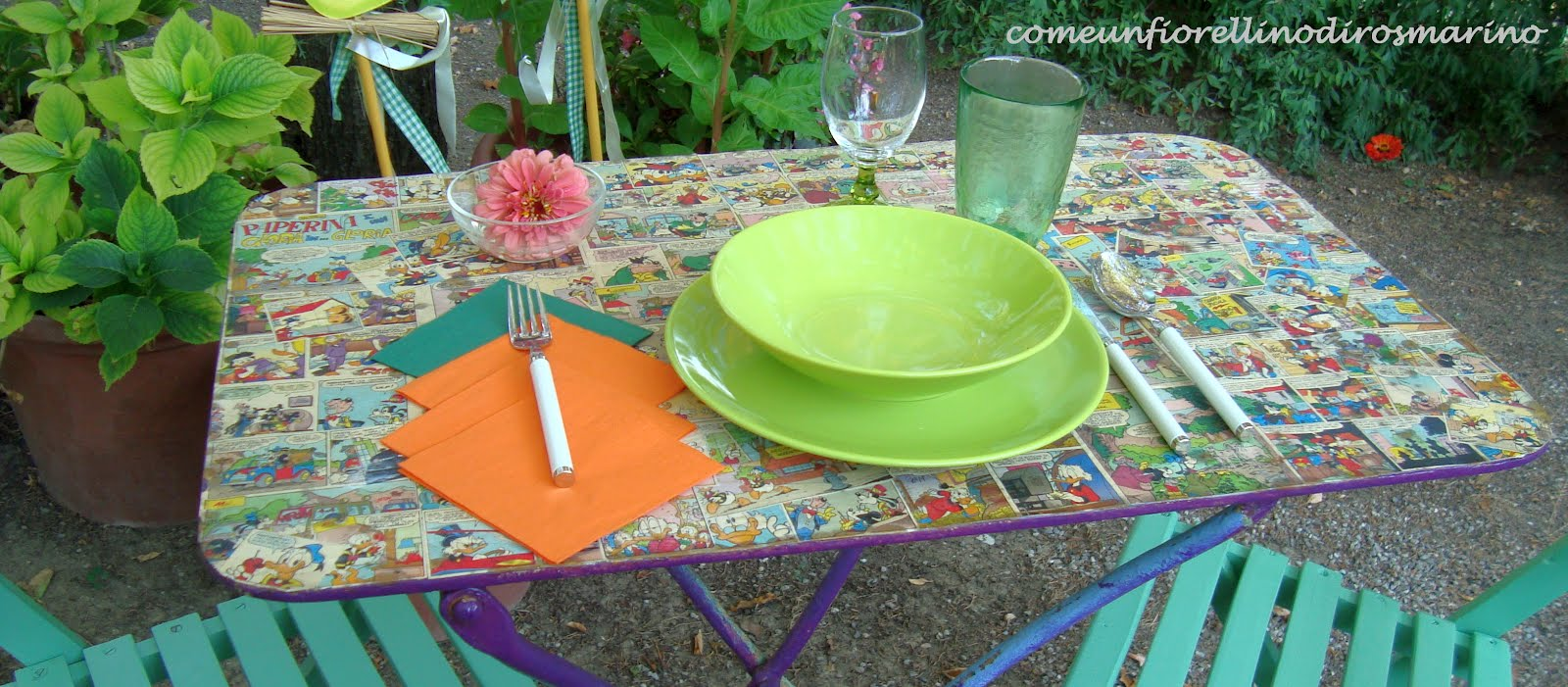 Come un fiorellino di rosmarino aggiungi un posto a - Se sposti un posto a tavola ...