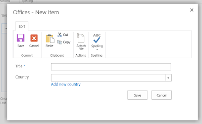 SharePoint new form