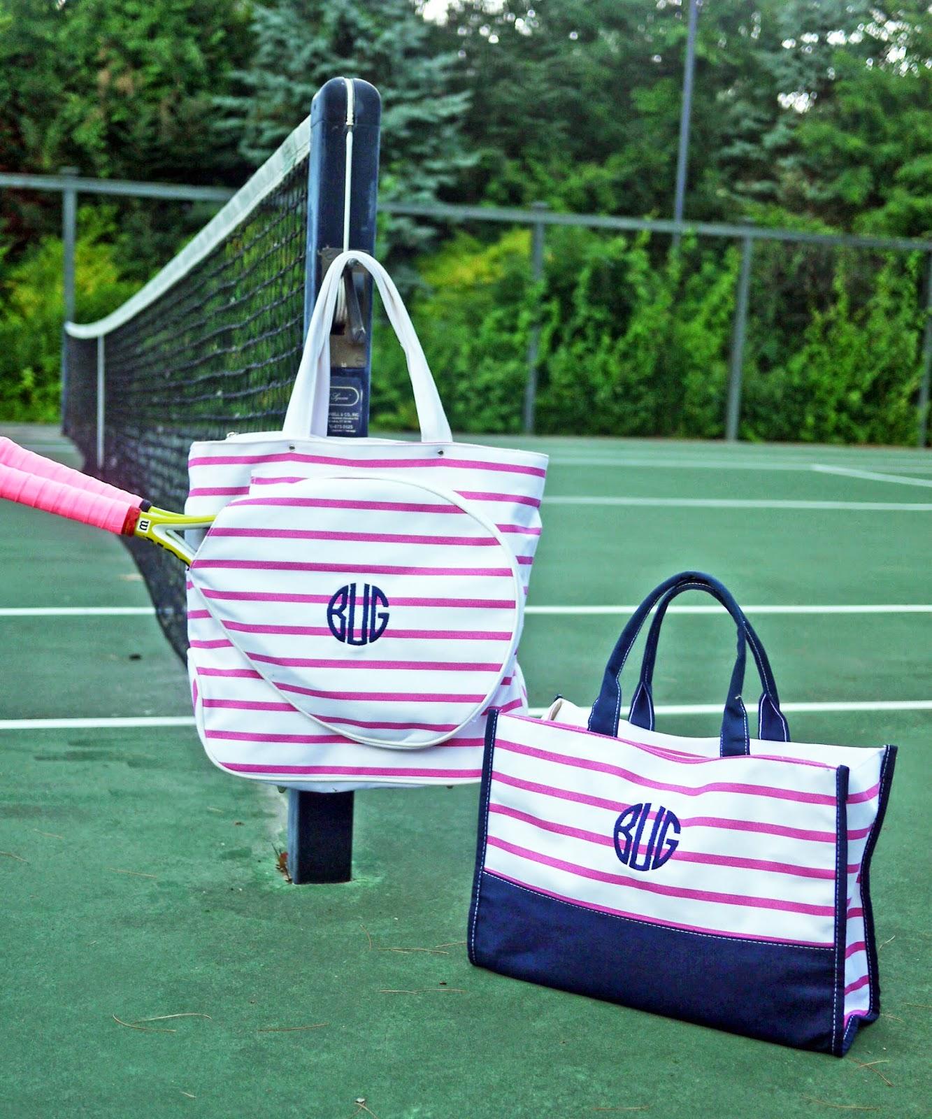 back in stock  monogram tennis bags