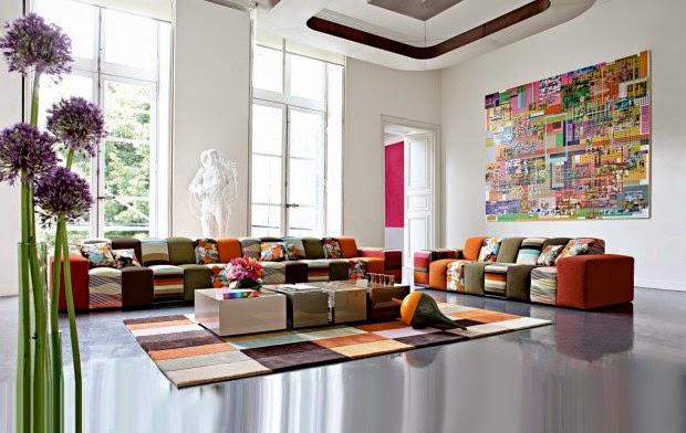 canape roche bobois multicolore