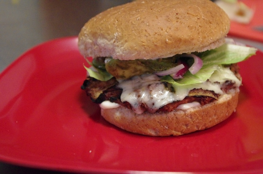 The Project Spot: Green Chile Turkey Burgers