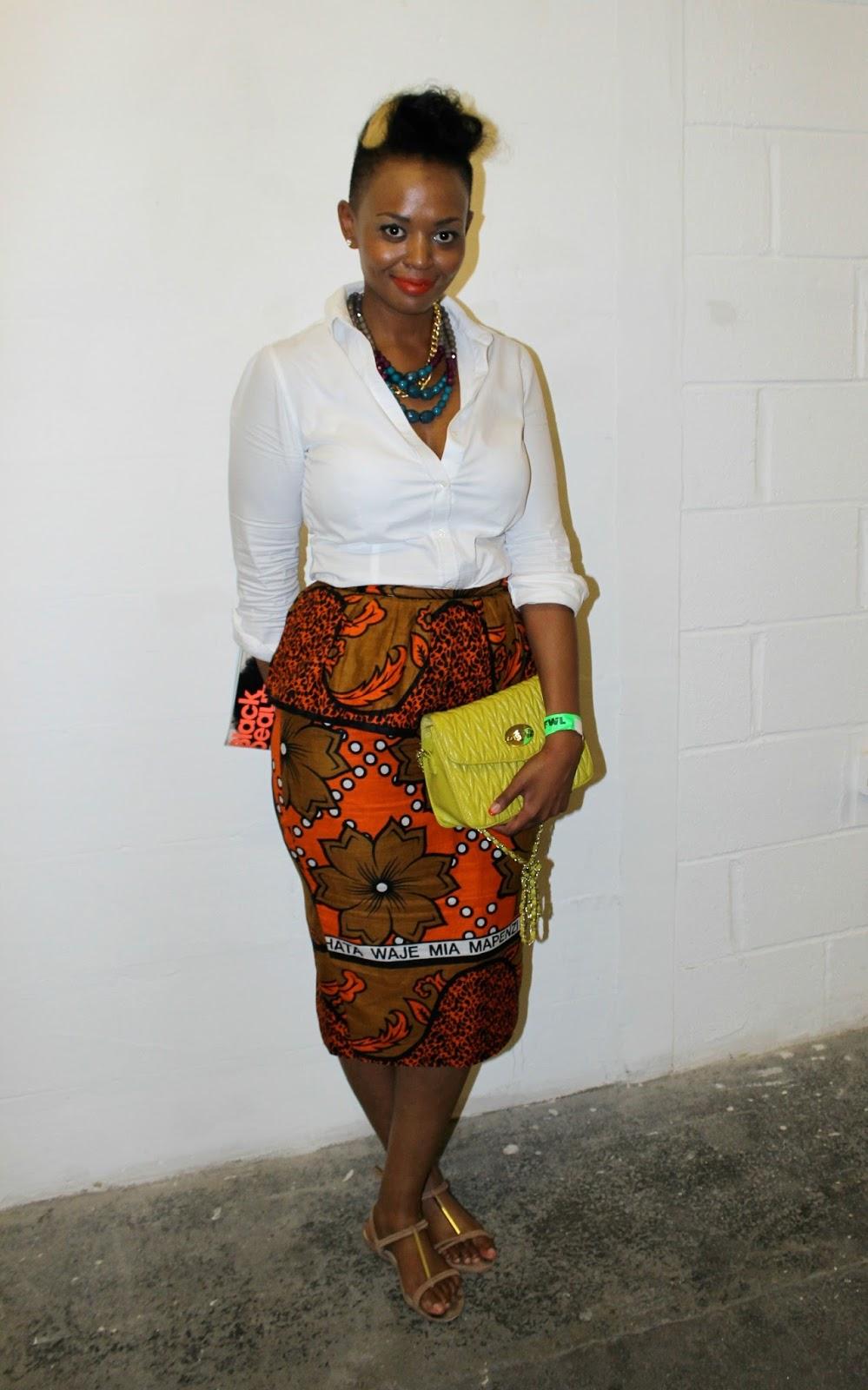 Vakwetu Style Street Style African Print Pencil Skirt Afwl 2013