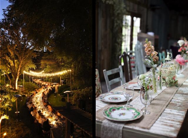mesas corridas para una boda