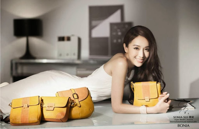 Sonia Sui, taiwan supermodel, taiwan actress, bonia International Ambassador, bonia handbag, bonia luggage