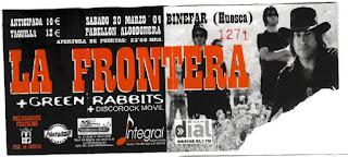entrada concierto binefar La Frontera