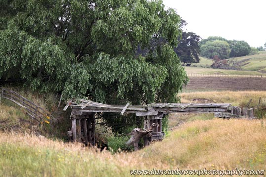 Derelict bridge, Farm Rd, Waipukurau