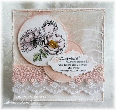 Our Daily Bread Designs Stamp Set: Fragrance, Our Daily Bread Designs Custom Dies; Circle Ornaments, Ornate Borders and Flower, Our Daily Bread Designs Shabby Rose Paper Collection