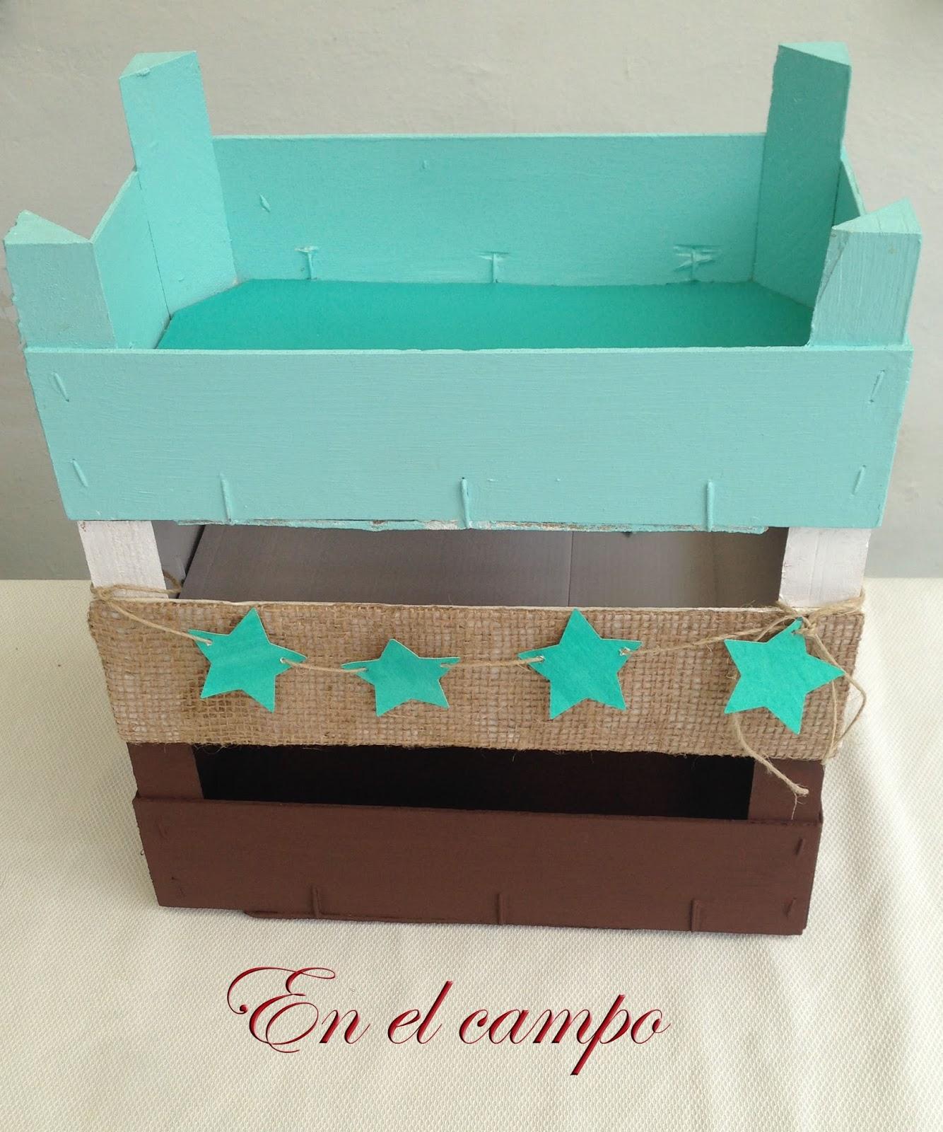 En el campo cajas de frutas recicladas - Manualidades con cajas de frutas ...