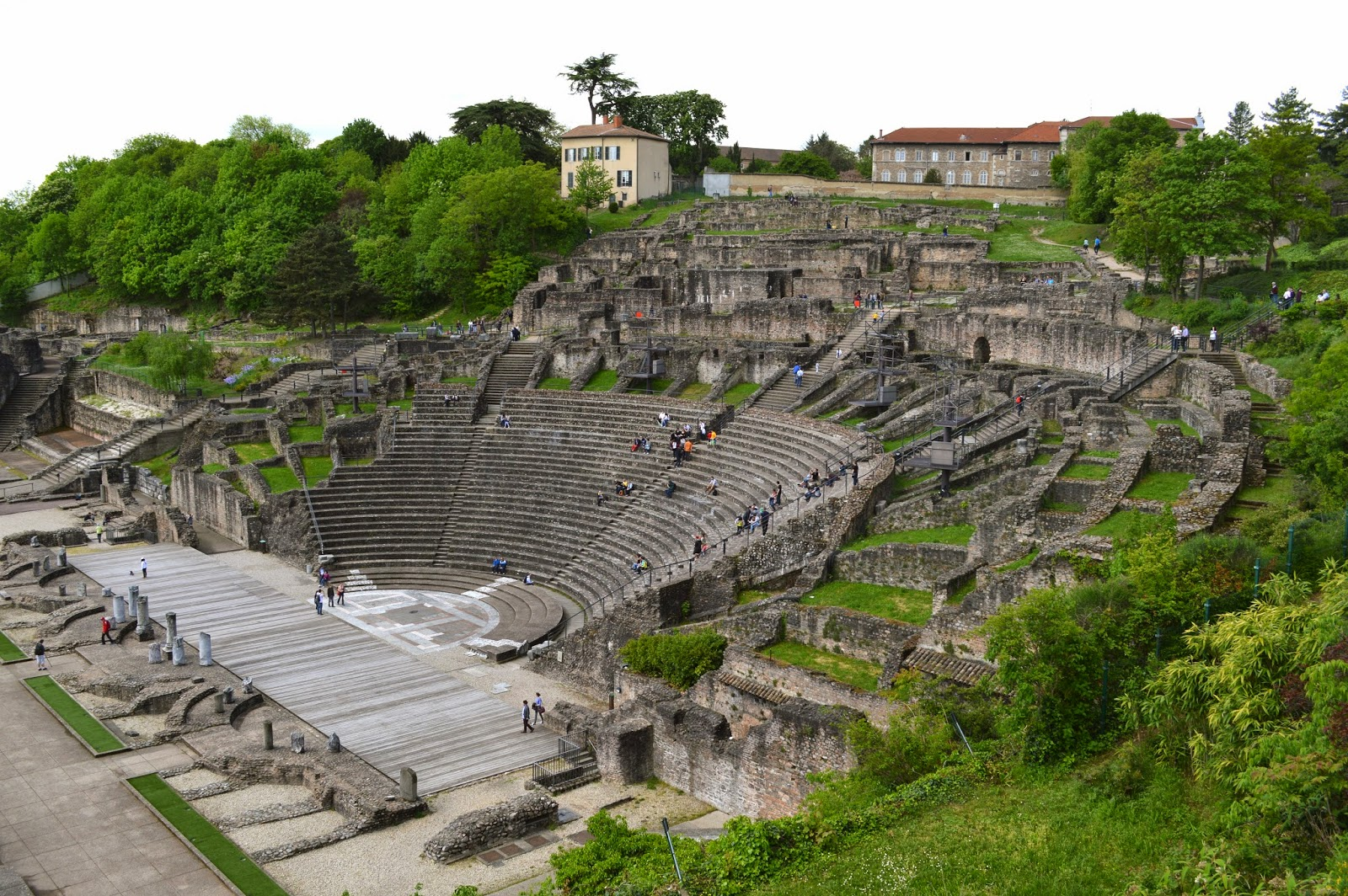 Roman ruins and amphitheatre in Lyon
