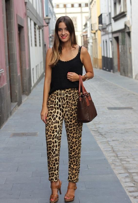 Брюки Леопардовые