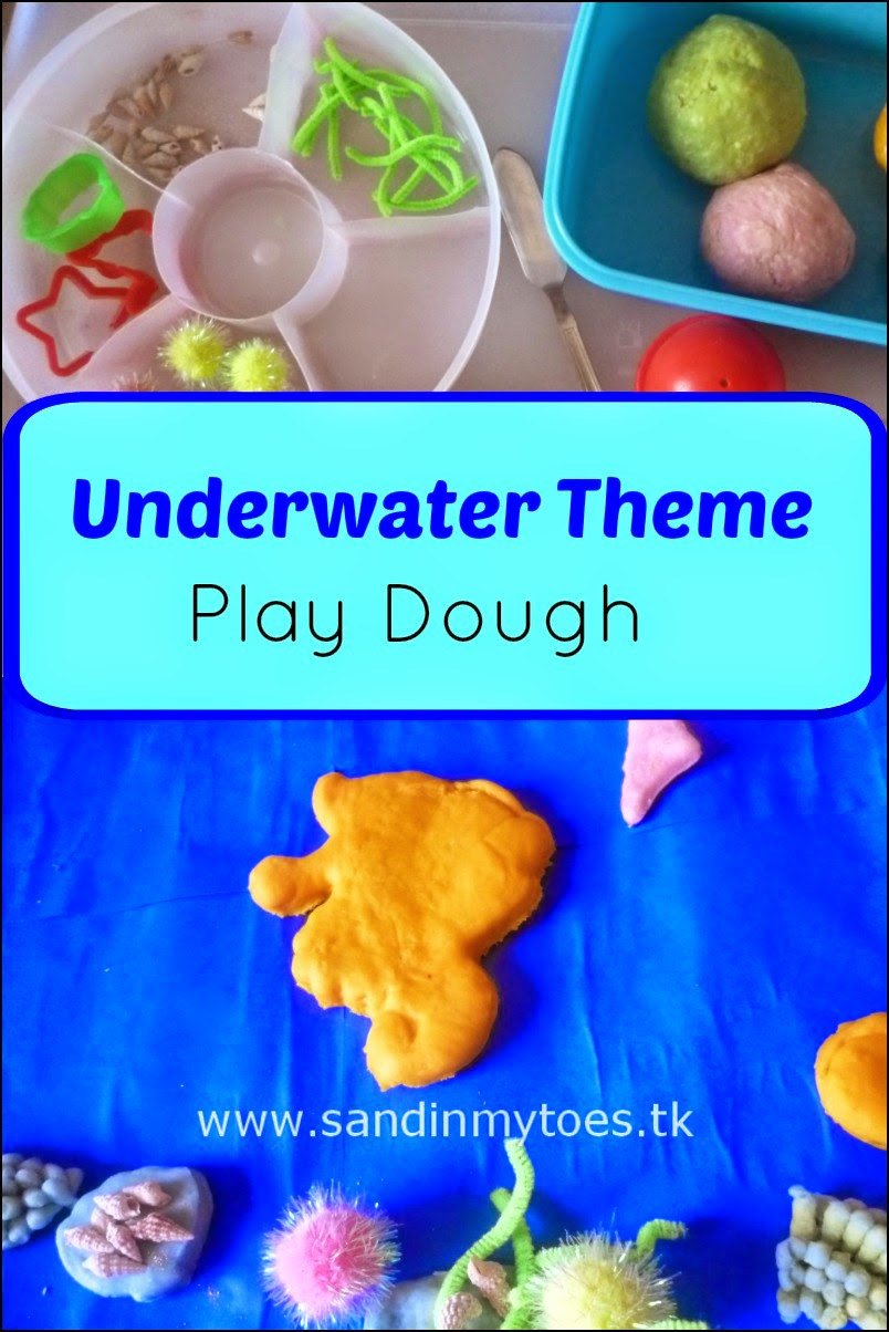 Underwater or Ocean Theme Play Dough