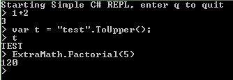 Simple C# REPL with Mono.CSharp