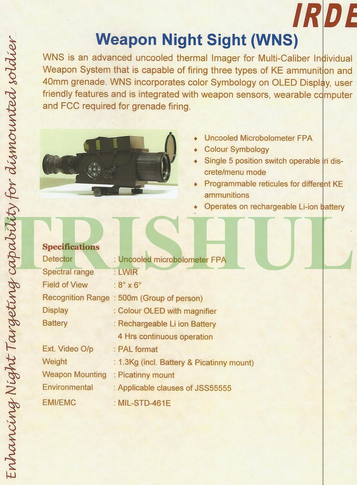 Drdo multical rifle unveiled page 7 - Drdo Multipurpose Sight For Multi Cal Rifle