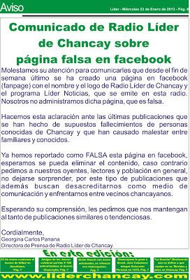 Lider :: Desde Chancay - Región Lima para el Mundo