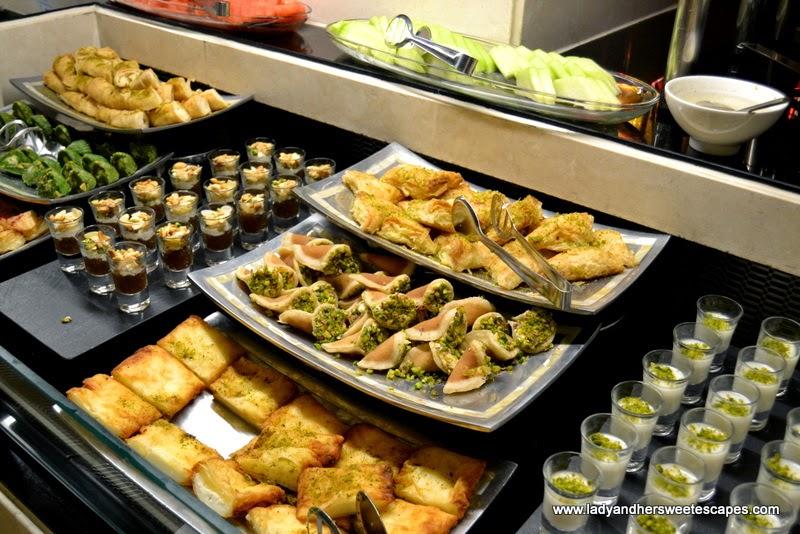 Arabic sweets at Na3Na3 The Address Dubai Mall