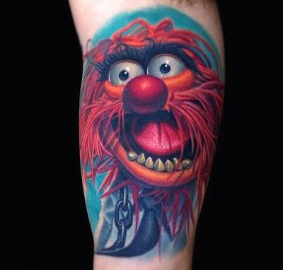 Tatuaje de Animal personaje de los Muppets