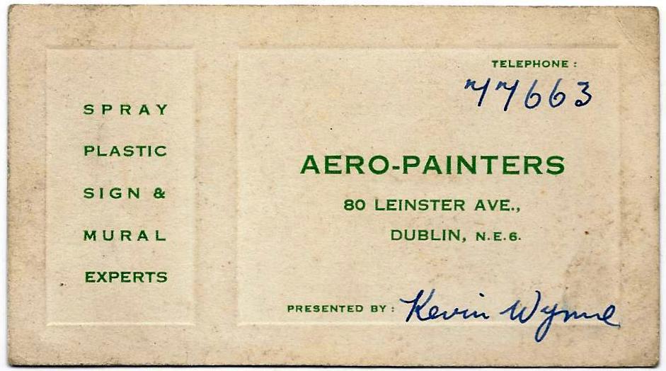 Kevin Wynne (1909-1960), Dublin