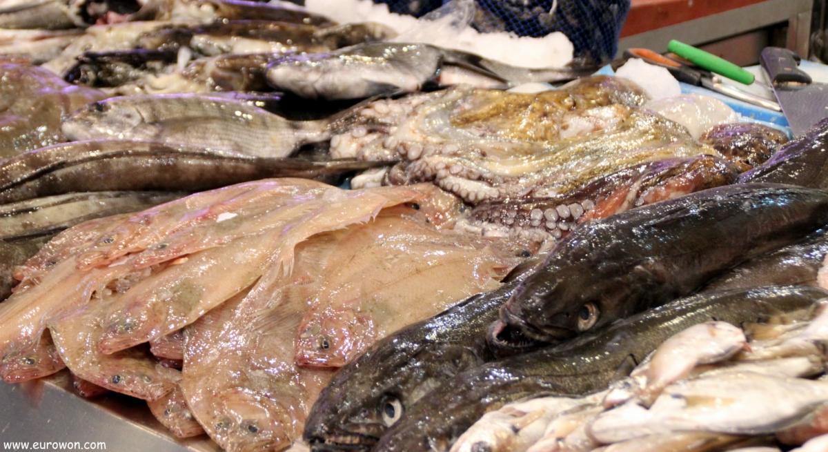 Pescado gallego a la venta en Vigo