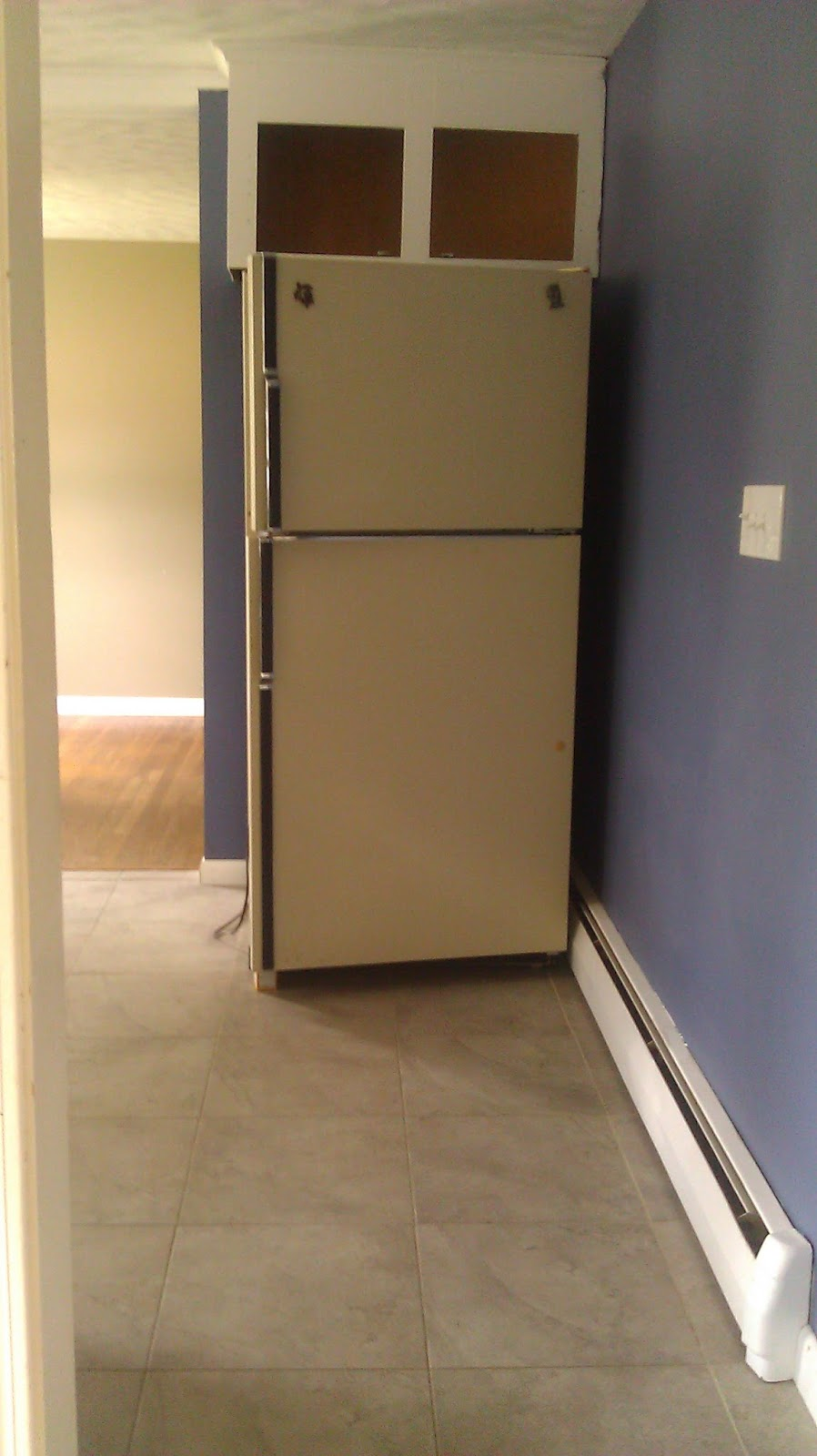lilly s home designs trones in the kitchen we switched out the old refrigerator that came with the house with a stainless steel one and we added a little floating recycling center on the wall to make