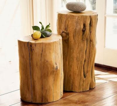 Mi rinc n de sue os como hacer una mesa con un tronco - Mesas de troncos de madera ...